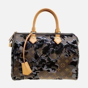 Louis Vuitton Speedy Fleur De Jais Bag